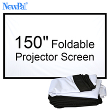 NewPal 150 inch Projector screen 4:3/16:9 Foldable projector Screen for Outdoor and Home Cinema Movies