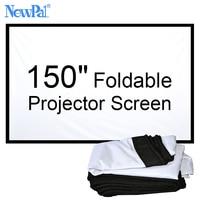 NewPal 150 inch Projector screen 4:3/16:9 Opvouwbare projector Scherm voor Outdoor en Home Cinema Films