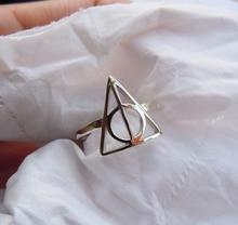 Sólido anillo 925 Sterling plata triángulo hechos a mano todos los tamaños
