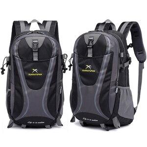 Image 1 - 35L Männer Nylon Wasserdicht Unisex Outdoor Bergsteigen Wandern Klettern Camping Rucksäcke sport Unisex taschen reisetasche für männliche