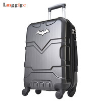 Kid Batman Rolling Luggage Suitcase bag,Wheels Carry on with Lock,202428inch High capacity Plastic Travel Box