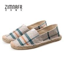 Эспадрильи для мужчин Scarpe Donna Летняя обувь ручной работы повседневная обувь Мужская дышащая обувь холст Zapatillas Hombre плоские легкие кожаные туфли