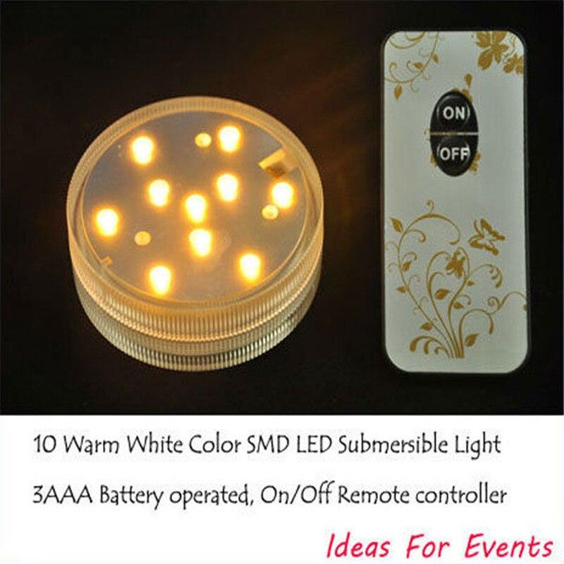 (20 komada / puno) 7cm daljinski upravljani šarenilo RGB mini LED - Rasvjeta za odmor - Foto 5
