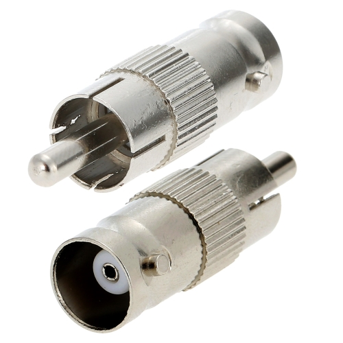 100pcs BNC Female to RCA Male Plug Coax Adapter Connector Coupler CCTV Security Camera