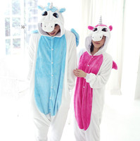 Free Shipping Winter Onesie Flannel Pajama Sets Adult Unisex Cosplay Animal Pajamas Unicorn Onesie For Adults