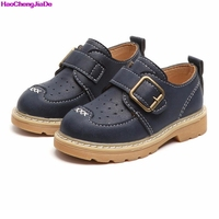 HaoChengJiaDe Spring Children Shoes Sneaker Girls Boys Kids British Wind Toddler Fashion Leather Boys Child Casual