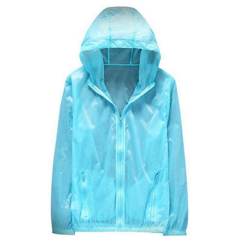 2020 Running Jackets Outdoor Solid Quick Dry Sun Protection Coat For Men Women Hiking Windproof Hooded Cardigan Cycling Jersay