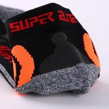 Super Elite Men Professional Running Sports Socks Thermal Compression Winter Warm Coolmax