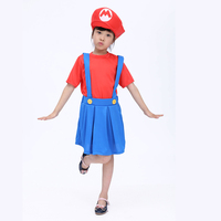 Free shipping now Halloween costumes for children sixty-one girls Super Mario Mario Louis cosplay game service
