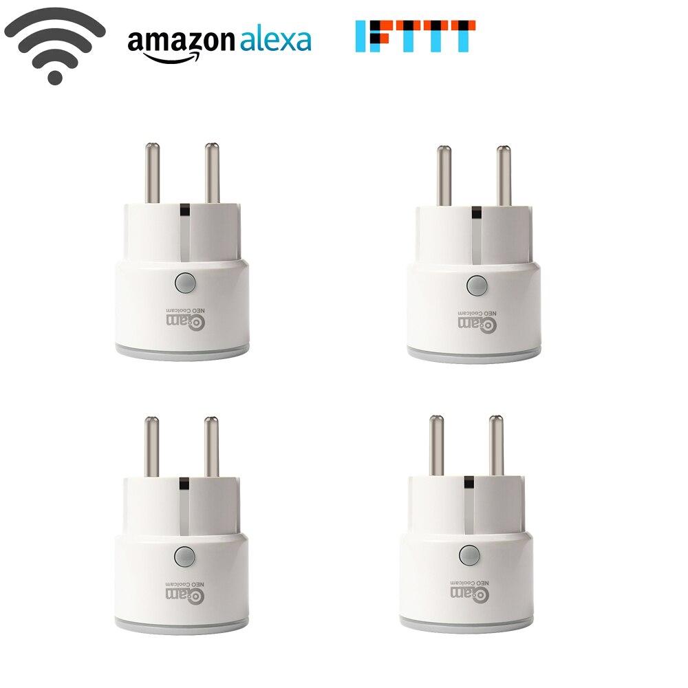 4 pcs/lot Smart Plug UE Soutien Amazon Alexa Google Maison, IFTTT Télécommande WiFi Commutateur Mini Prise de Courant avec la Fonction de Synchronisation