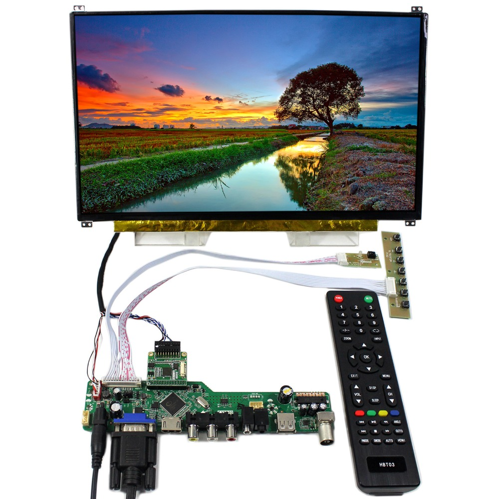 TV HDMI VGA CVBS USB LCD Controller Board With 13.3inch 1920x1080 N133HSE EDP IPS LCD Screen zhi yun zhiyun official crane m 3 axis brushless handheld gimbal stabilizer for mirrorless camera action camera support 650g