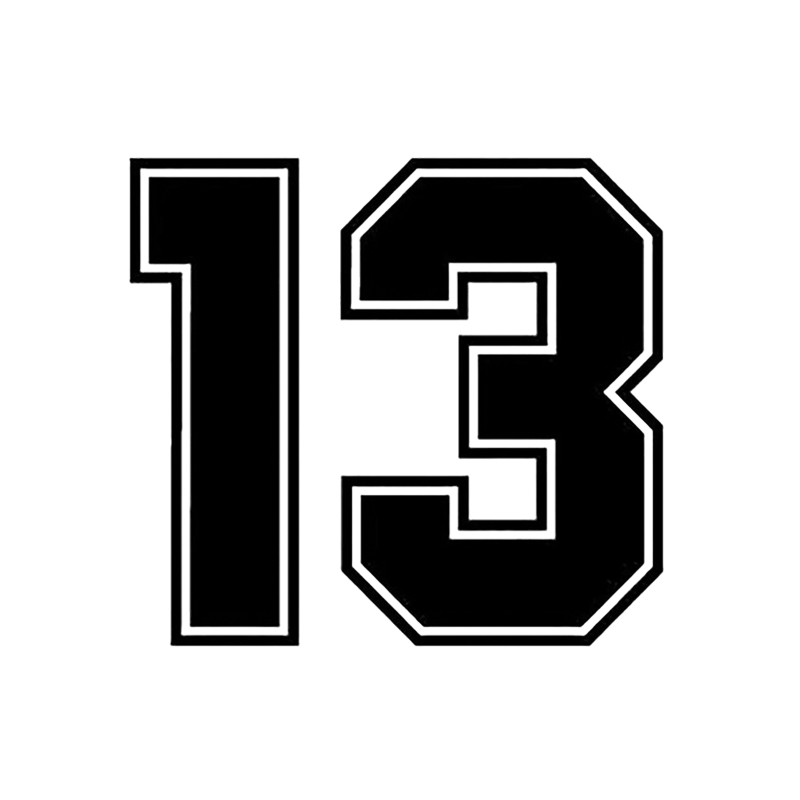 Image 3 - 15*13.7cm Number 13 Carbon Fiber Funny Car Sticker Vinyl Decal Auto Car Stickers and Decals Sticker on Car Styling Decoration-in Car Stickers from Automobiles & Motorcycles