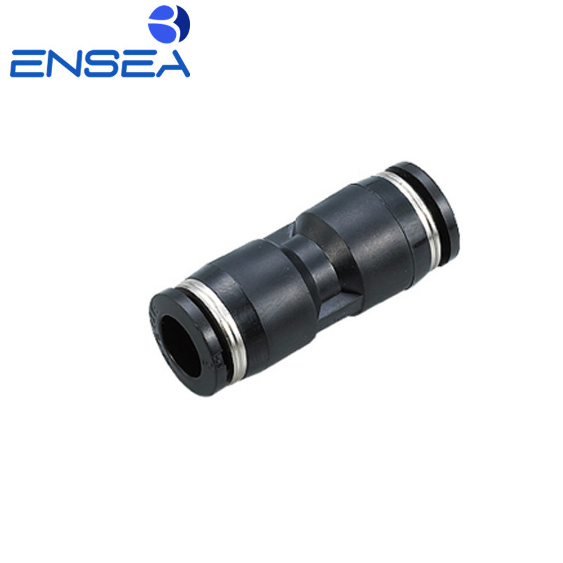 Купить с кэшбэком Air Pneumatic 10mm 8mm 6mm 12mm 4mm 16mm OD Hose Tube One Touch Push Into Straight Gas Fittings Plastic Quick Connectors Fitting