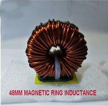 48mm büyük güç ferrosilikon manyetik indüktör 100UH 3MH filtre indüktörü PFC manyetik halka endüktans için DC DC dönüştürücü