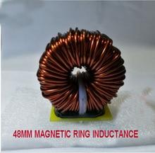 Inductor magnético de ferrosilicio de gran potencia de 48mm, filtro de Inductor 100UH 3MH, anillo de inductancia magnética PFC para convertidor de DC DC