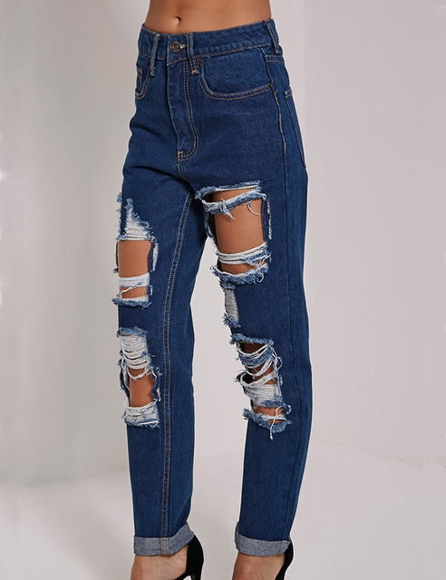 ae6949e3b19 Hot Jeans Woman High Waist Jeans Pant Women Sexy Trousers Ladies Casual  Stretch Hole Jeans Female