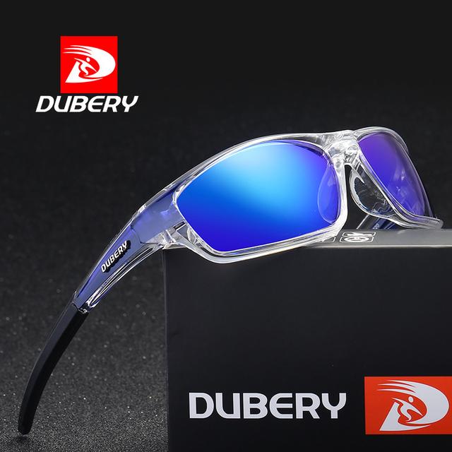DUBERY Sunglasses Men's Polarized Driving Sport Sun Glasses For Men Women Square Color Mirror  Luxury Brand Designer 2017