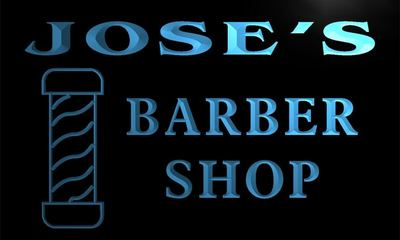 x0028-tm Joses Barber Shop Hair Cut Custom Personalized Name Neon Sign Wholesale Dropshipping On/Off Switch 7 Colors DHL