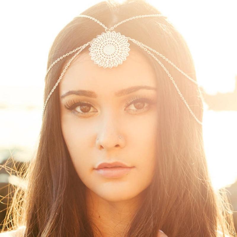 Fashion Boho Indian Frontlet Head Jewelry Silver Hair Head Chain Metal  Goddess Headpiece Headband For Women Hair Accessories 7a5d658e6f8