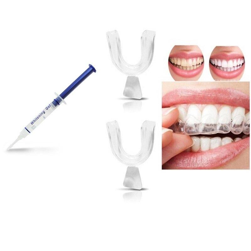 1 Pc Zähne Bleaching-gel + 2 Stücke Dental Mundschutz Zähne Bleaching Trays Mund Wache Weiße Bleaching Kit Pflege Oral Hygiene Set Eine GroßE Auswahl An Modellen