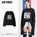 Bad Girl Crush Long-sleeved T-shirt Youth Hip Hop Funny Tee Elongated Sleeve HEYBIG avant-garde Design Shirts Chinese Size