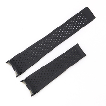 CARLYWET 22mm Hot sell Newest Black Waterproof Silicone Rubber Replacement Wrist Watch Band Strap Without Buckle