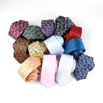 Modne kwiatowe krawaty męskie klasyczne krawaty żakardowe dla mężczyzn Gravata wąskie krawaty na ślub garnitury biurowe krawaty Corbatas tanie i dobre opinie KROAESHA WOMEN Moda Poliester CN (pochodzenie) Dla dorosłych Szyi krawat Jeden rozmiar Floral 145*6cm