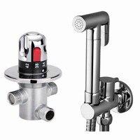 Promo Marca de latón nuevo bidé válvula termostática bidet rociador de ducha, grifo para bidé e inodoro BD288-2