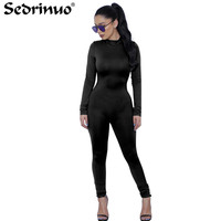 Tight Bodysuit Sexy Overalls Night Club Rompers Womens Jumpsuit Playsuit Bodycon Jumpsuit Macacao Woman 2016 Long