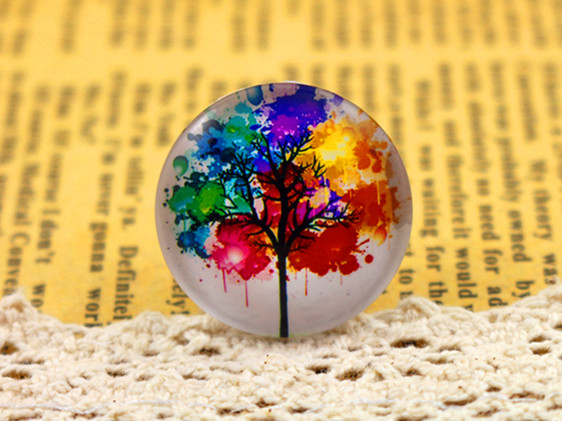 New Fashion  5pcs/Lot 25mm Handmade Photo Glass Cabochons  (F1-50)