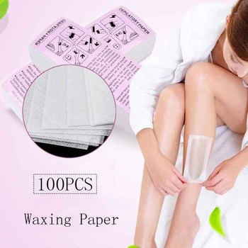 100pcsWaxing wax paper With special thick non-woven depilatory wax hair removal for paper white hair removal wax for depilation