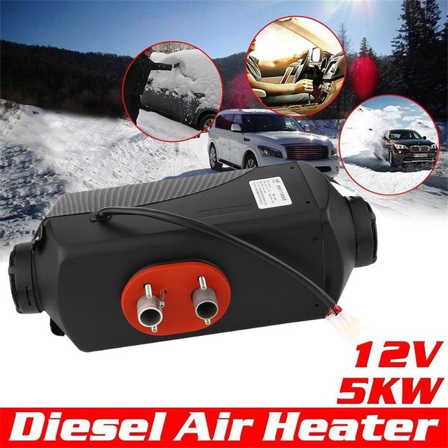 5000W 12V Air Heater With Vent Duct Pipe Low Fuel Consumption Air Parking Heater Universal For Car Trucks Boat Bus