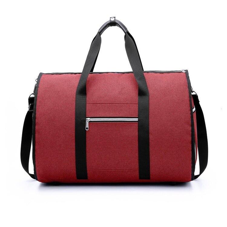 Дропшиппинг водонепроницаемый дорожный костюм вещевой мешок дорожная сумка багажные сумки бизнес большая портативная дорожная сумка для хранения - Цвет: Красный