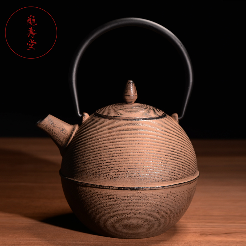 Ev ve Bahçe'ten Çaydanlıklar'de Tang Shou kaplumbağa kaplanmamış dökme demir tencere el eski demir su isıtıcısı güney Japonya demlik kung fu çay su ısıtıcısı su kaynatmak için'da  Grup 1