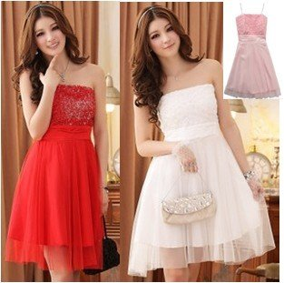 Red And White Dresses For Women | But Dress