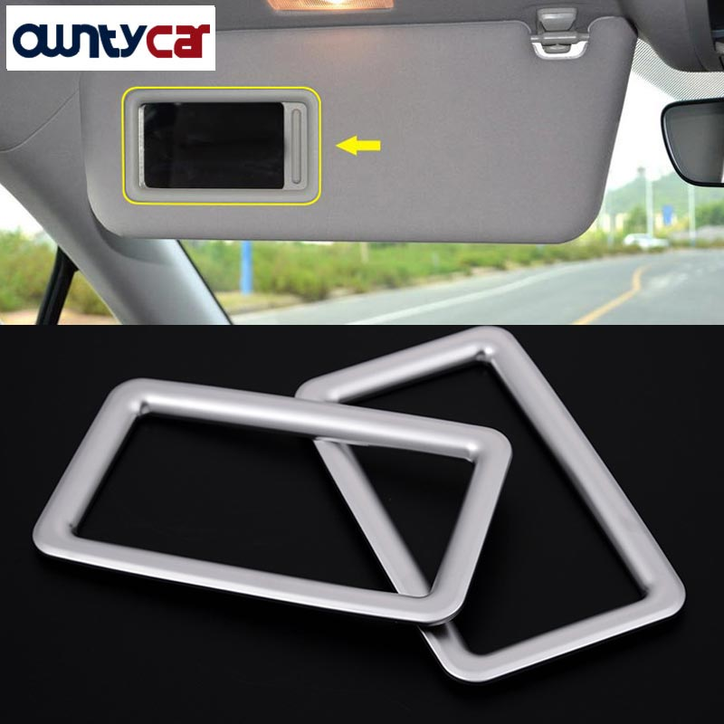 For <font><b>Lexus</b></font> <font><b>RX200t</b></font> 450h 2016 Car Styling <font><b>Accessories</b></font> ABS Chrome Make up Mirror Frame Trim Stickers 2PCS New Arrivals image