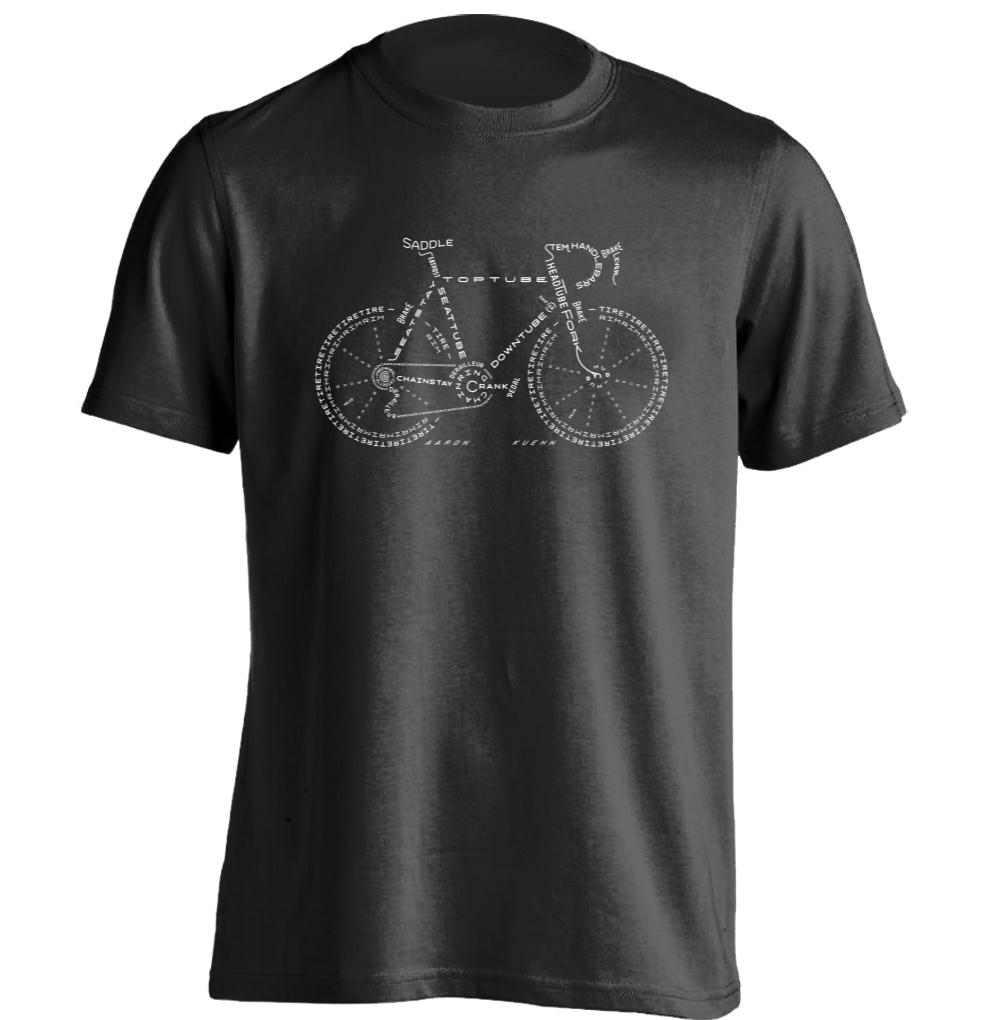 bicycle mens womens cool personalized t shirt retro tee. Black Bedroom Furniture Sets. Home Design Ideas