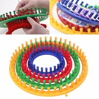 Modern 4 Size Colorful Classical Round Circle Hat Knitter Knitting Knit Loom Kit Sewing Tools Accessory