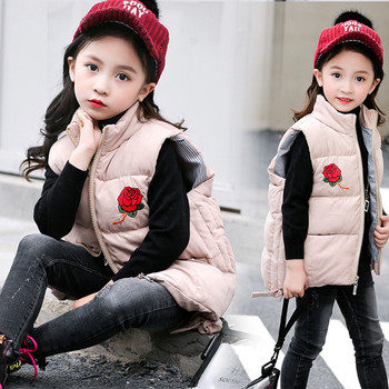 2018 baby clothes vest hooded children's clothes jacket children's clothing winter coat coat thick baby girl warmth