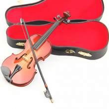 Novo mini violino modelo versão atualizada com suporte em miniatura de madeira instrumentos musicais coleção decoração ornamentos modelo