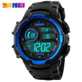 2017 New SKMEI popular Brand Men Military Sports fashion Watches Digital LED Wristwatches black rubber strap relogio masculino