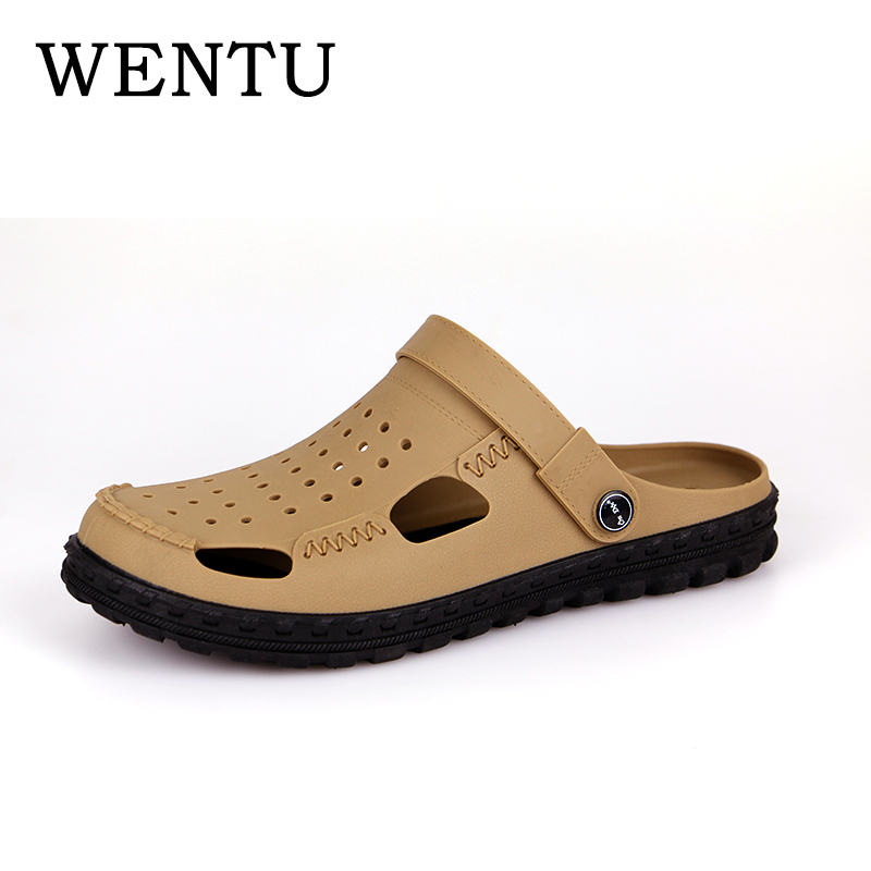 ENTU Men Fashion Sandals Summer Mens Slippers Beach Casual Breathable Home Slippers Men  ...