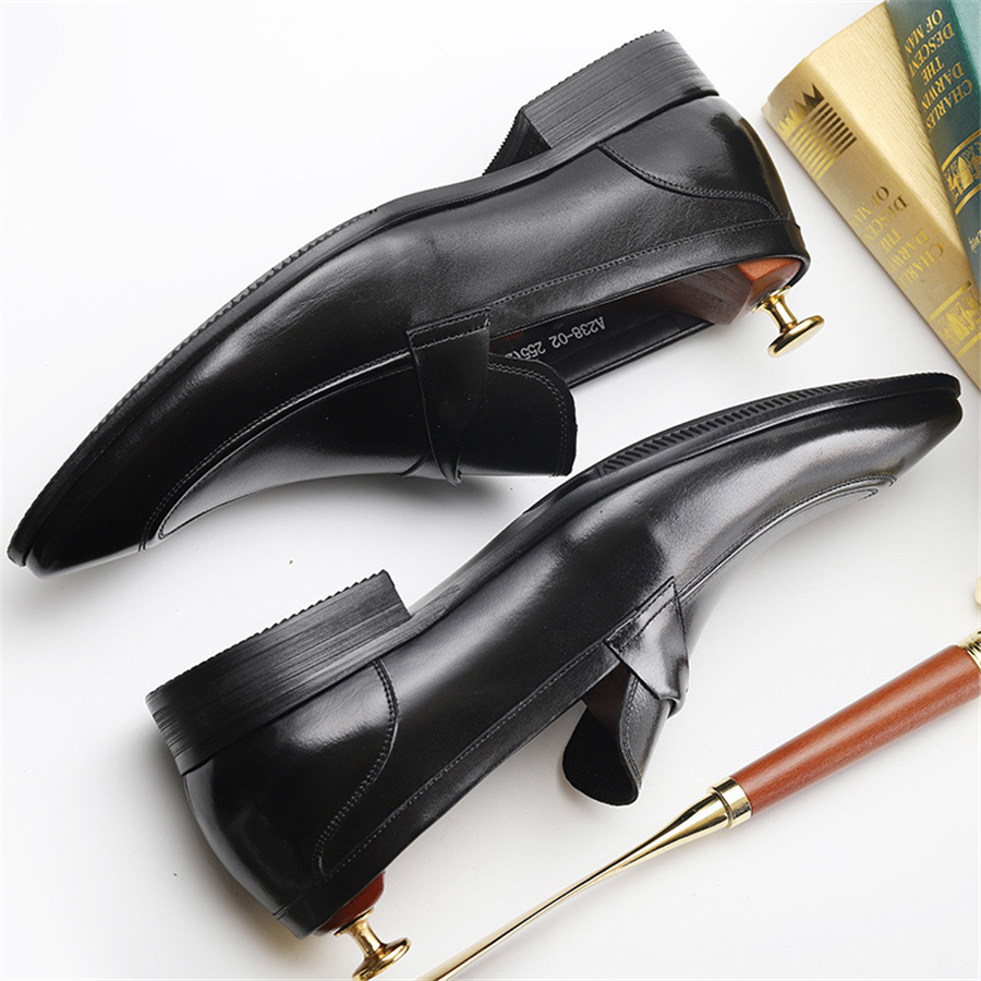 100 Genuine cow leather brogue Wedding shoes mens casual flats shoes vintage handmade oxford shoes for men spring black red in Formal Shoes from Shoes