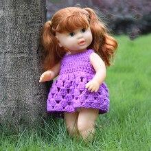 Lifelike Reborn Girl Baby Dolls Olcsó Játékok Gyerekeknek Ivóvíz Pizsama Villogó szemek vörös és fehér ruhával 40cm