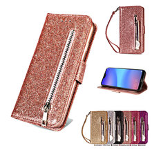 Huawei P20Pro Case Luxury Bling Funda Huawei P30 Pro Case Leather Wallet Zipper for Huawei P20 P30 Lite Case Flip Cover P30Pro