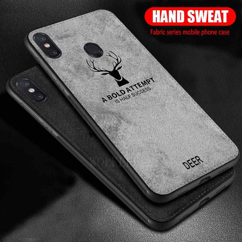 Luxury Deer Cloth case For Xiaomi 8 SE A2 6 5X 6X Max3 Pro PocoPhone F1 Redmi Note 5 4 4X 6 Pro S2 6A 5 Plus Shockproof Cover