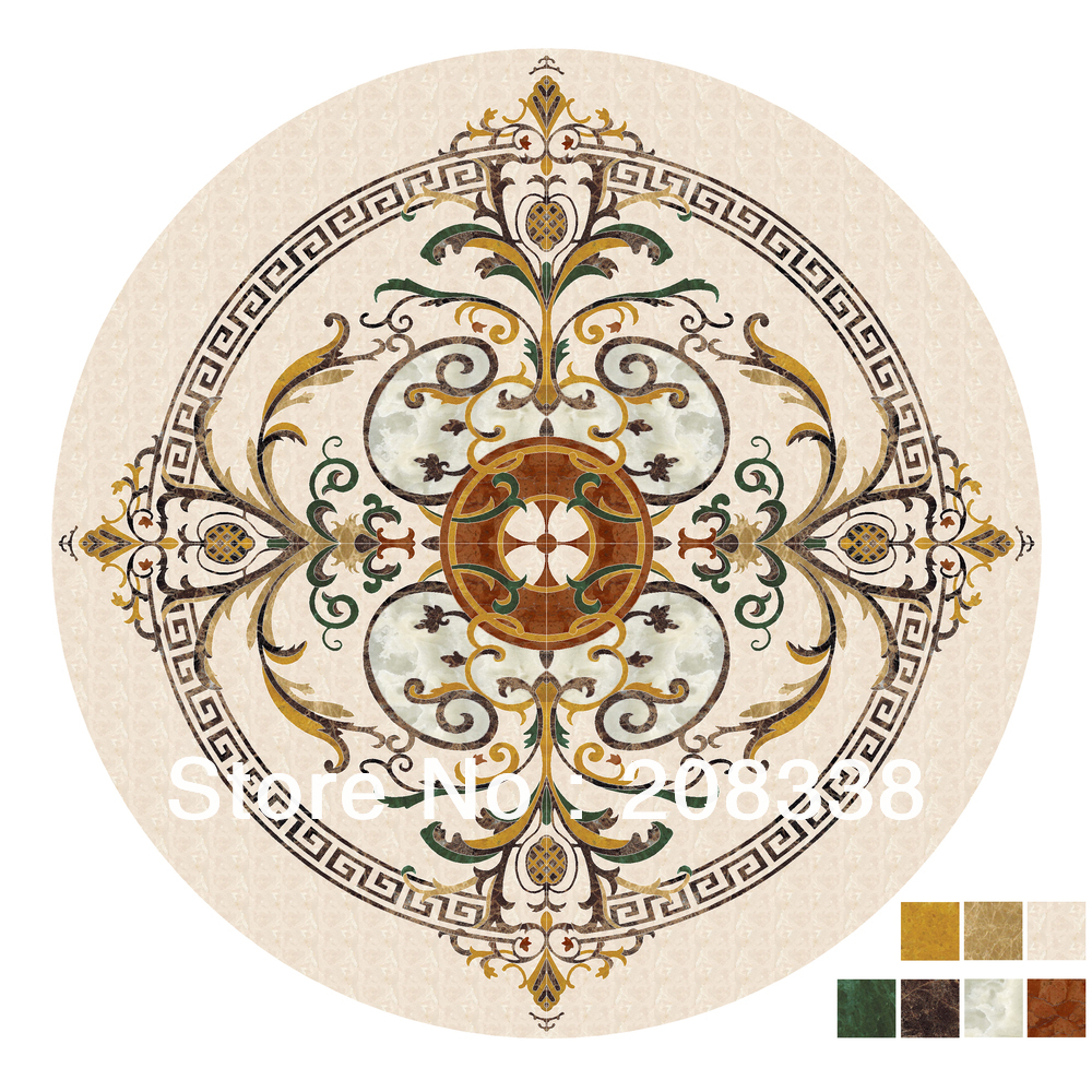 Natural marble medallion waterjet marble inlay medallionLuxury flooring designin Stones from