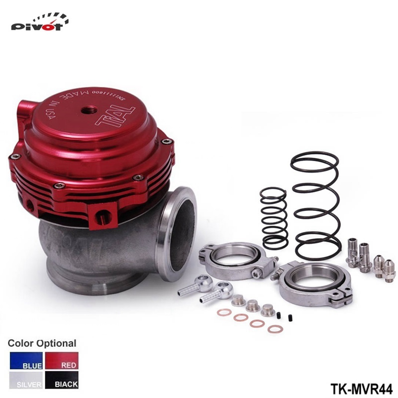 ФОТО PIVOT-MVR 44mm V Band External Wastegate Kit 24PSI Turbo Wastegate with V Band Flange High Quality PT-MVR44