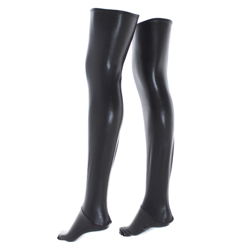 Sexy Thigh Highs Stockings Black Red Gold Silver Fetish -7199