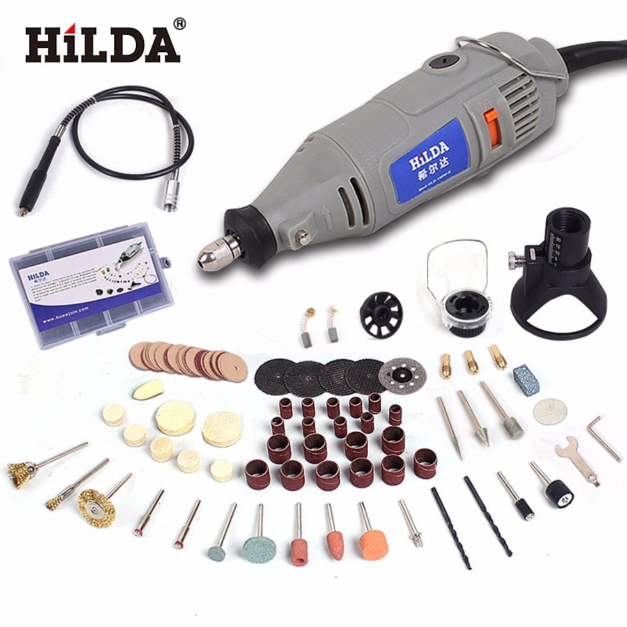 HILDA 220V 150W with 99pcs Accessories Electric Rotary Tool  Flexible Shaft Power Tools Variable Speed Mini Drill Power Tools hilda 400w mini electric drill with 6 position variable speed dremel rotary tools with flexible shaft and 94pcs accessories